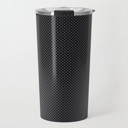 Simulated Black Carbon Fiber Travel Mug