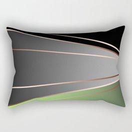 Green, black, grey. Rectangular Pillow