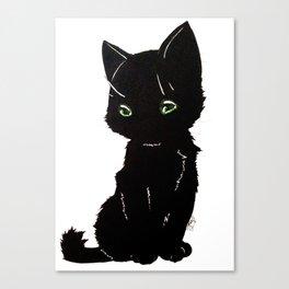 Black kitty Canvas Print