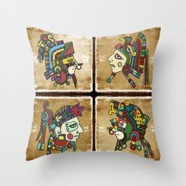 mexican warriors Throw Pillow