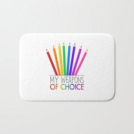 My Weapons Of Choice  |  Pencil Crayons Bath Mat