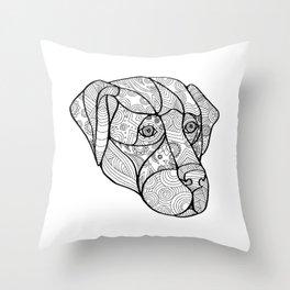 Labrador Retriever Mandala Throw Pillow