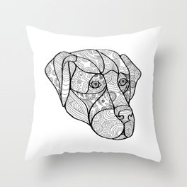 Labrador Retriever Mandala Throw Pillow