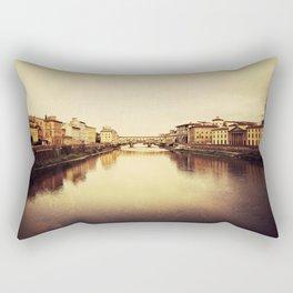 Arno River in Florence Rectangular Pillow