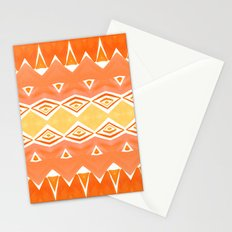 Geo Triangle Orange 2 Stationery Cards