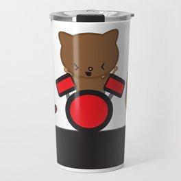 Kitty Cat Kawaii Band usic Travel Mug