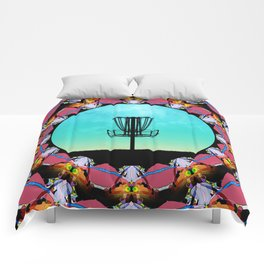 Disc Golf Abstract Basket 6 Comforters