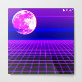 Once In A Neon Moon Metal Print