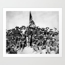 Teddy Roosevelt And The Rough Riders Art Print