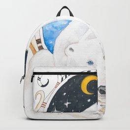 Polar Bear King Of North Watercolor Backpack