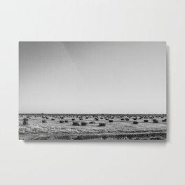 Salton Sea - Hay Stacks Metal Print
