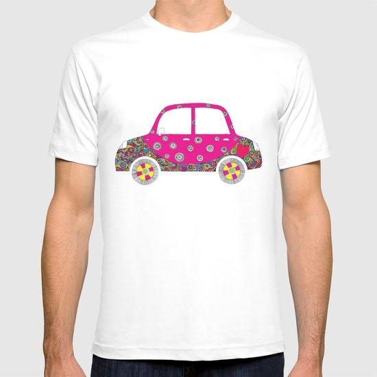 Colorful car T-shirt