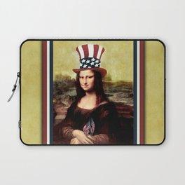 Patriotic Mona Lisa Laptop Sleeve