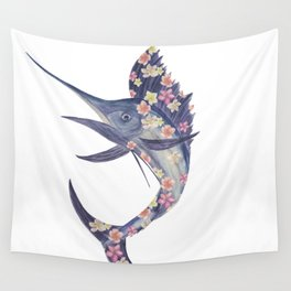 floral fish Wall Tapestry