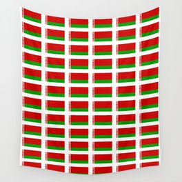 flag of belarus -Беларусь,Белоруссия,Belarus,Belarusian,Minsk. Wall Tapestry