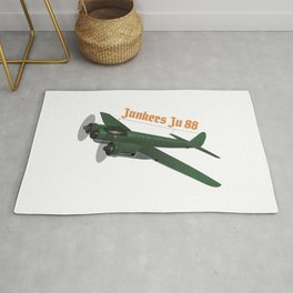 Junkers Ju 88 German WW2 Airplane Rug