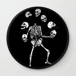 Circus of Skeleton Wall Clock