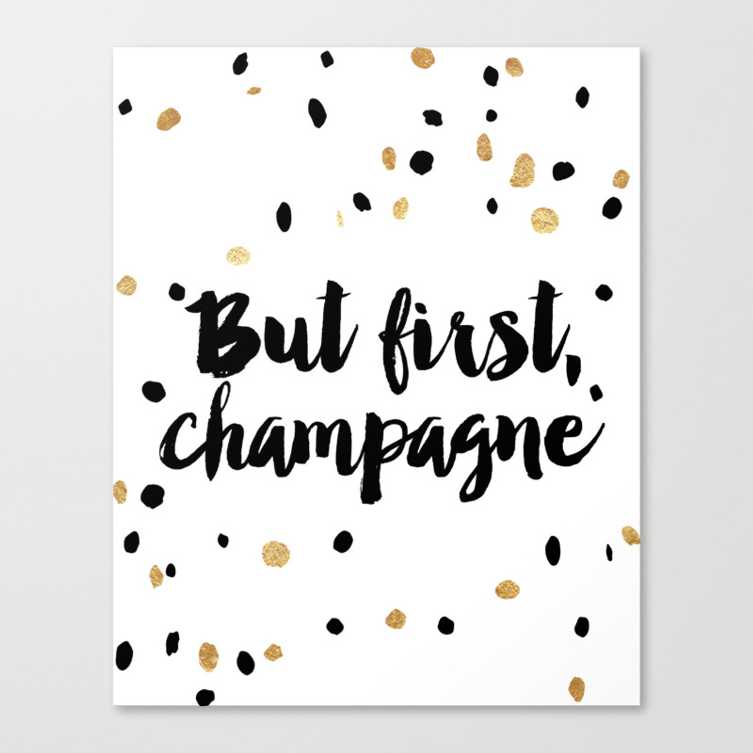 But First Champagne Print Kitchen Decor Kitchen Wall Art Gold Foil Printable Party Decor Party Sign Canvas Print