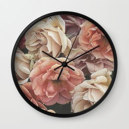 Great Garden Roses,peach Wall Clock