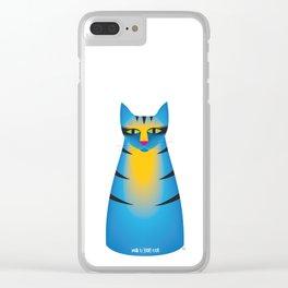 milk bottle cat : Terry Clear iPhone Case