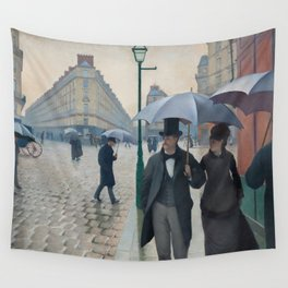 Paris Street; Rainy Day,  1877, Gustave Caillebotte Wall Tapestry