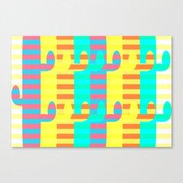 Cacti light Canvas Print