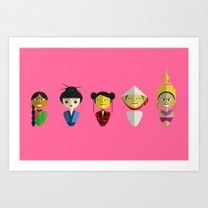 Asian Dolls Art Print
