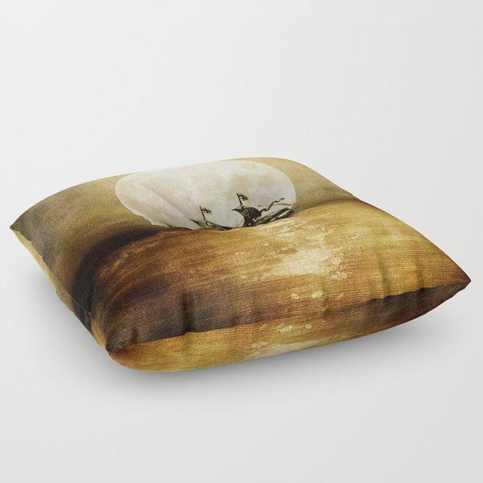 Vintage. Trip. Floor Pillow