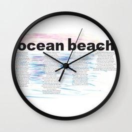 On Ocean Beach Wall Clock