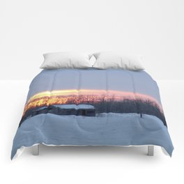 prairie morning Comforters