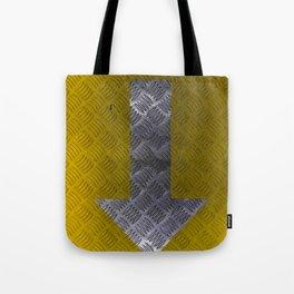 Industrial Arrow Tread Plate - Down Tote Bag