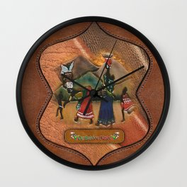 Traditional SA costume Wall Clock
