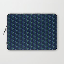 Lovely Peacock Feathers Pattern On Blue Laptop Sleeve