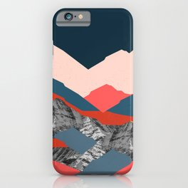 Graphic Mountains X iPhone Case