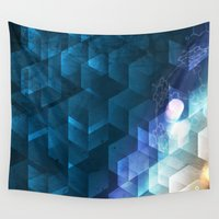 dna Wall Tapestries featuring DNA Cube by Tony Vazquez