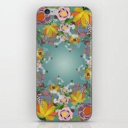 Encircled Garden (Light Teal) iPhone Skin
