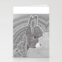 donkey Stationery Cards featuring Donkey by Olya Goloveshkina