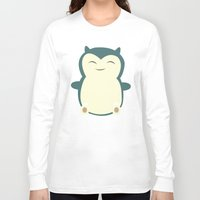 snorlax Long Sleeve T-shirts featuring It aint easy being sleepy. by Glassy
