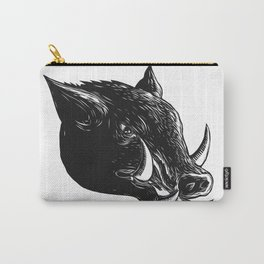 Razorback Wild Boar Scratchboard Carry-All Pouch