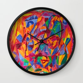 A Face of Contemplation Wall Clock