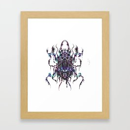 Rainbow scarab Framed Art Print