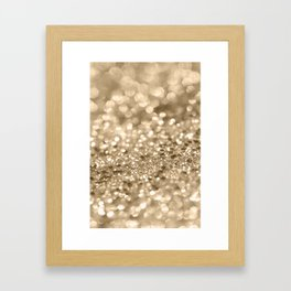 Champagne Gold Lady Glitter #2 #shiny #decor #art #society6 Framed Art Print