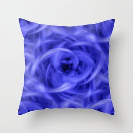 Background Flames Blue Throw Pillow