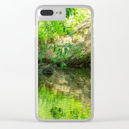 Tree reflection Clear iPhone Case