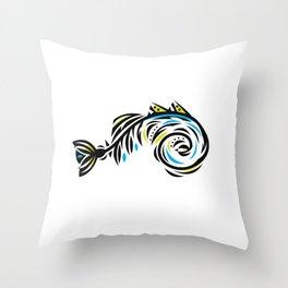 Bone Fishish 4C Throw Pillow