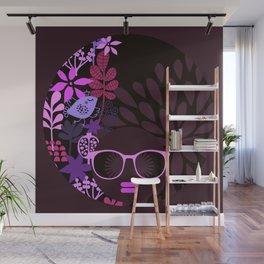 Afro Divva Magenta Lavender Eggplant Wall Mural