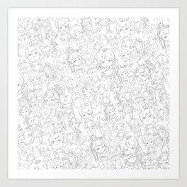 Chu Chu Angel : Pattern Print Art Print