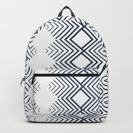 Blue Line Wavy Native Aztec Pattern Backpack