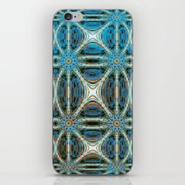 Turquoise Weave iPhone Skin