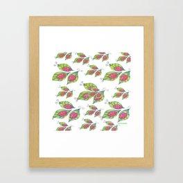 Lady Bugs Pattern Framed Art Print